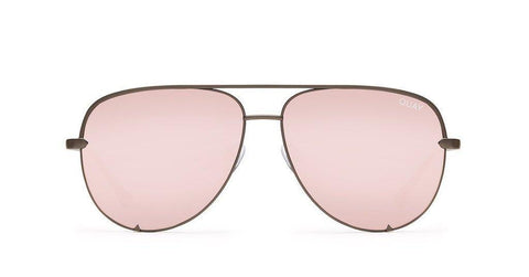 Quay Australia Sunglasses High Key - Gunmetal / Rose