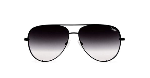Quay Australia Sunglasses High Key Mini - Black / Smoke Fade Lens