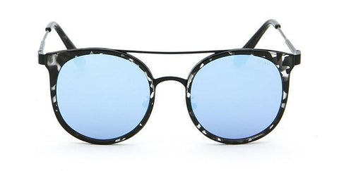 Quay Australia Sunglasses Kandy Gram - Black Tort / Blue Mirror