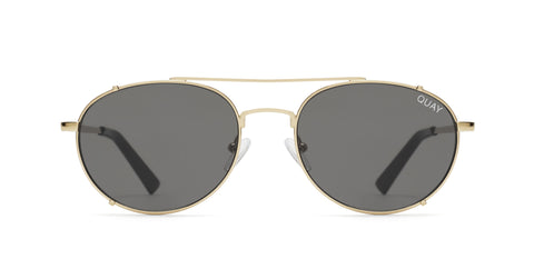 Quay Australia Sunglasses Little J - Gold / Smoke