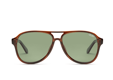 Quay Australia Sunglasses Magnetic - Orange Tort / Green Lens