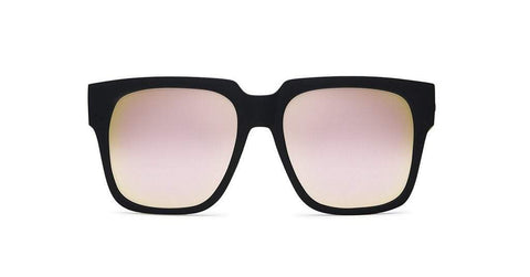 Quay Australia Sunglasses On The Prowl - Black / Pink