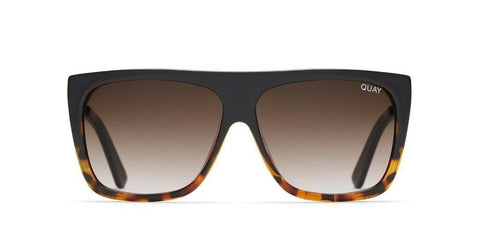 Quay Australia Sunglasses OTL II - Black Tort / Brown Fade