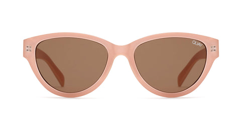 Quay Australia Sunglasses Rizzo - Cream / Brown Lens