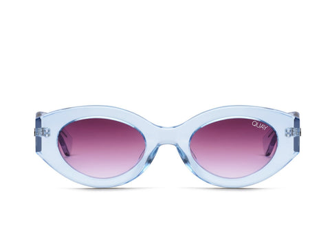 Quay Australia Sunglasses See Me Smile - Blue / Purple Lens