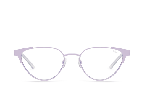 Quay Australia Sunglasses Song Bird - Lilac / Clear Blue Light Lens