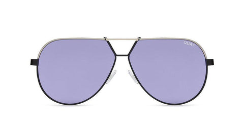 Quay Australia Sunglasses Supernova - Black Silver / Purple