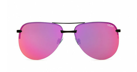 Quay Australia Sunglasses The Playa - Black / Pink