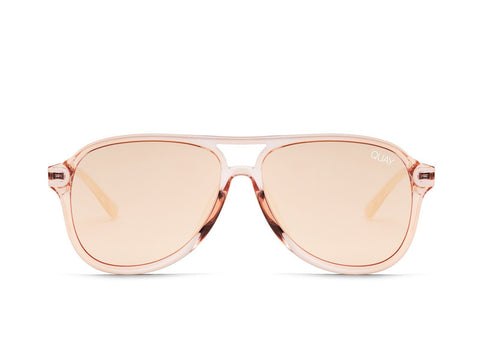 Quay Australia Sunglasses Under Pressure - Champagne / Rose Mirror