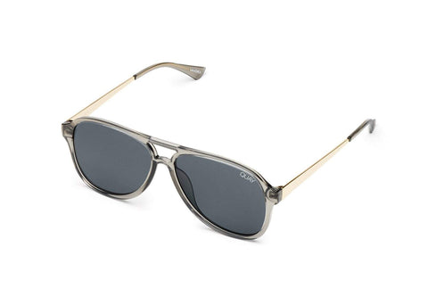 Quay Australia Sunglasses Under Pressure - Grey / Smoke Lens