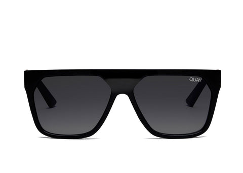 Quay Australia Sunglasses Very Busy - Black / Smoke Fade Lens
