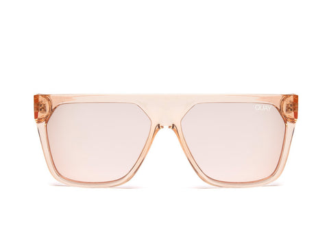 Quay Australia Sunglasses Very Busy - Champagne / Rose Mirror