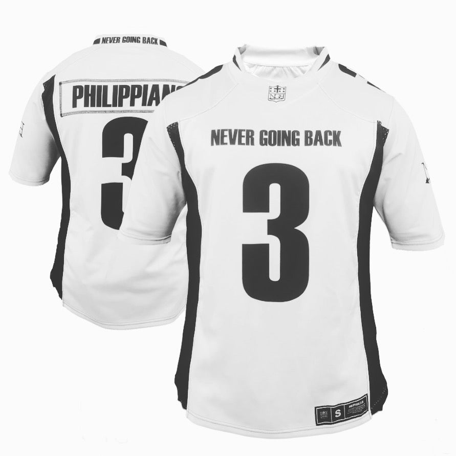 PHILIPPIAN'S 3 NEVER GOING BACK FOOTBALL JERSEY
