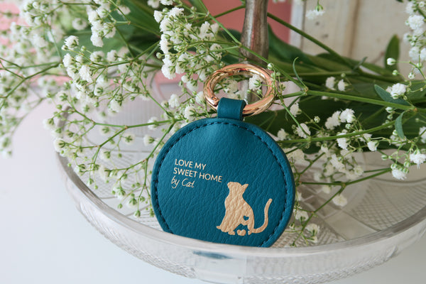 Mixy Animal Personalized Keyring - Blue-Green