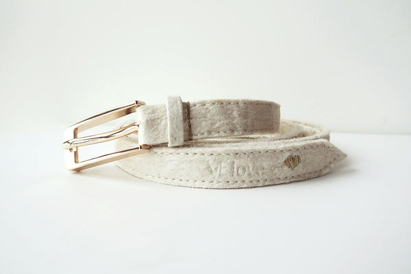 Pinatex Alice Belt - Cream