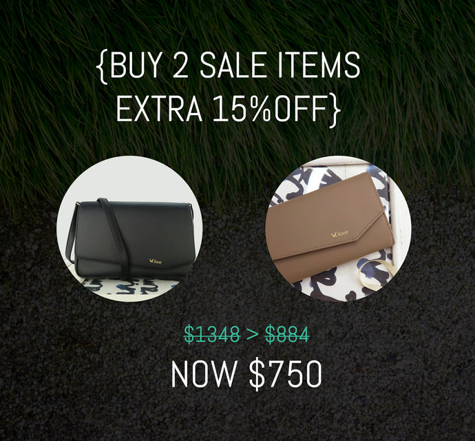 Buy 2 SALE items {Crossbody+Wallet} SAVE 15% - VElove