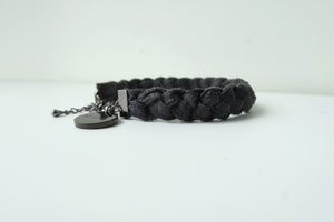 Pinatex Double Bears Bracelets - Black / Cream - VElove
