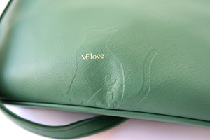 Love my sweet home - Cat V Shape Mint Green Cross Body - VElove