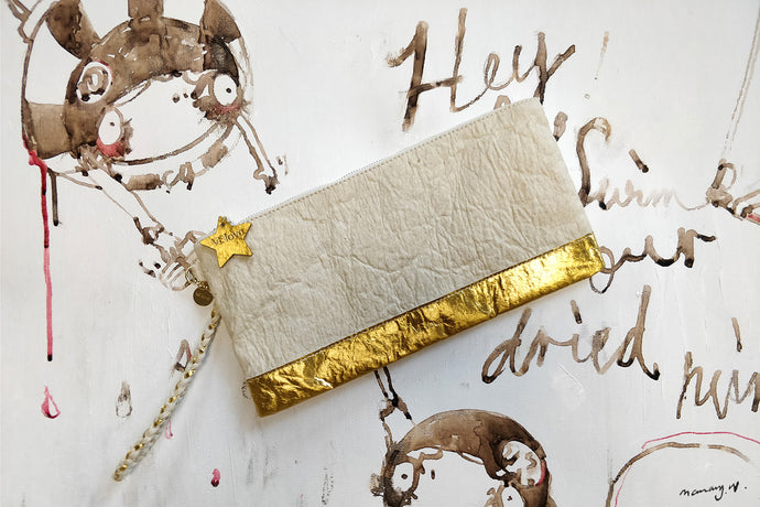Light me up! Stars Clutch - Cream - VElove