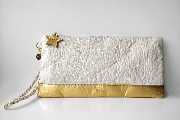 Light me up! Stars Clutch - Cream