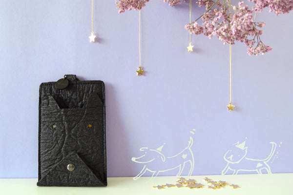 Light me up! Stars Animal Card Holder & Coin Bag - Dog / Cat - VElove