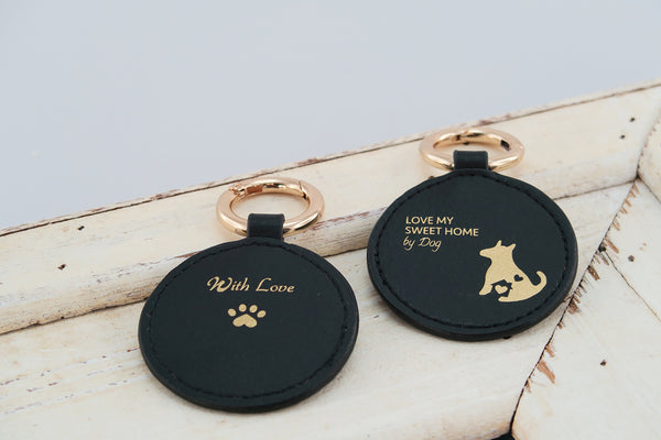 Mixy Animal Personalized Keyring - Black