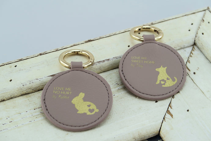 Mixy Animal Personalized Keyring - Mud - VElove