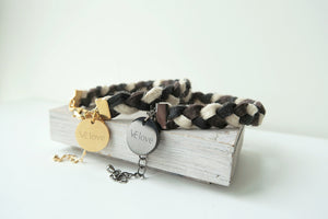 Pinatex Amber Animal Bracelet - Mix Color / Gold - VElove