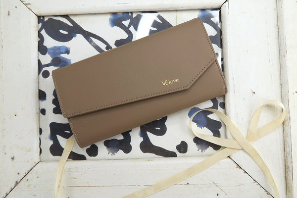 VElove Rabbit Wallet - Mud Brown