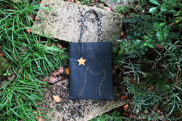 Light me up! Stars Animal Tote Bag - Black