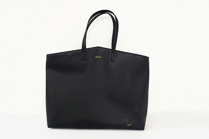 Enjoy my freedom - Moon Bear V Shape Black Tote - VElove