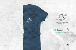 "Dear Sheep ""Day dreaming with you"" - Fair trade certified organic Men tee - VElove"
