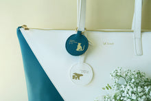 Mixy Animal Personalized Big V Tote Bag - Blue-Green & White - VElove