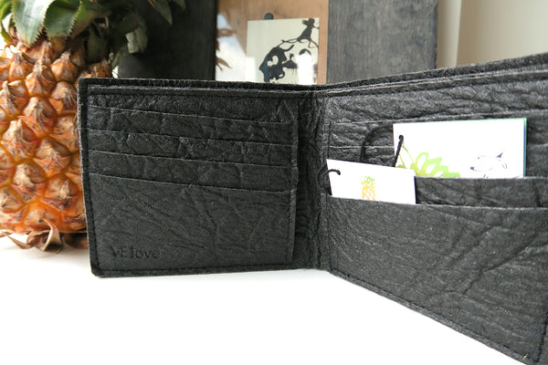Pinatex Keir Wallet - Black