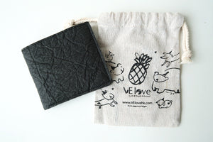 Pinatex Keir Wallet - Black - VElove