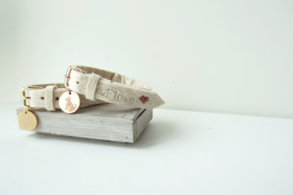 Pinatex Alice Animal Bracelet - Cream / Rose Gold - VElove