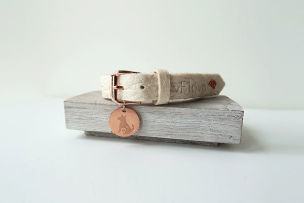 Pinatex Alice Animal Bracelet - Cream / Rose Gold