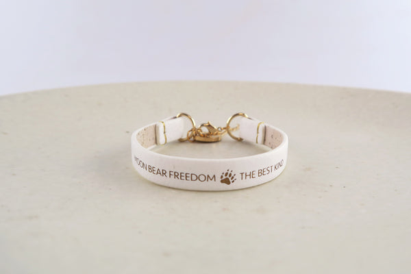 Moon Bear Freedom, The Best Kind White Bracelet