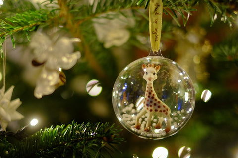 Sophie La Giraffe Christmas Bauble Burble baby