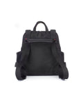 Babymel Robyn Convertible Backpack Changing Bag Faux Leather Black