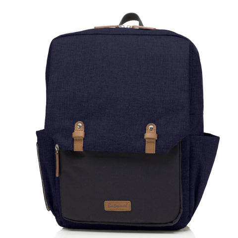 Babymel George Black Navy Melange Backpack