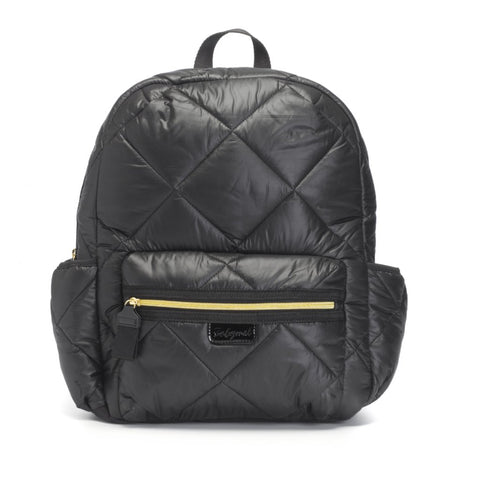Babymel Luna Ultra-Lite Black Quilt Changing Bag