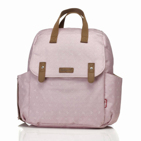 Babymel Robyn Convertible Backpack Changing Bag Dusty Pink Origami Heart