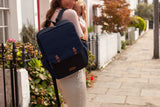Babymel George Backpack Black Navy Melange Changing Bag