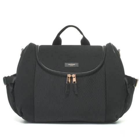 Storksak Poppy Luxe Black Scuba Convertible Changing Bag