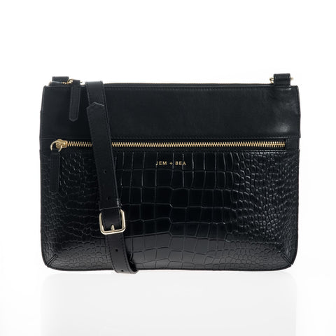 JEM + BEA Farah Black Changing Bag