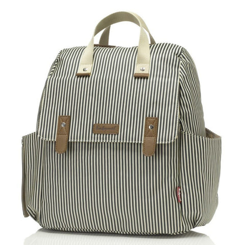Babymel Robyn Convertible Backpack Changing Bag Navy Stripe