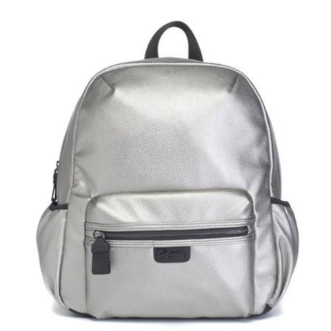 Babymel Luna Backpack Vegan Leather Pewter Changing Bag