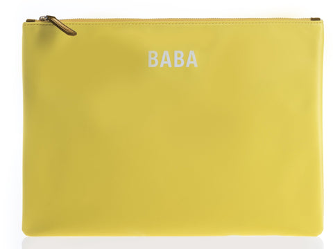 JEM + BEA Yellow BABA Pouch for Jem and Bea changing bags - Burble Baby