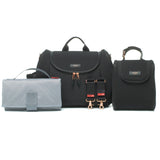 Storksak Poppy Luxe Black Scuba Changing Bag